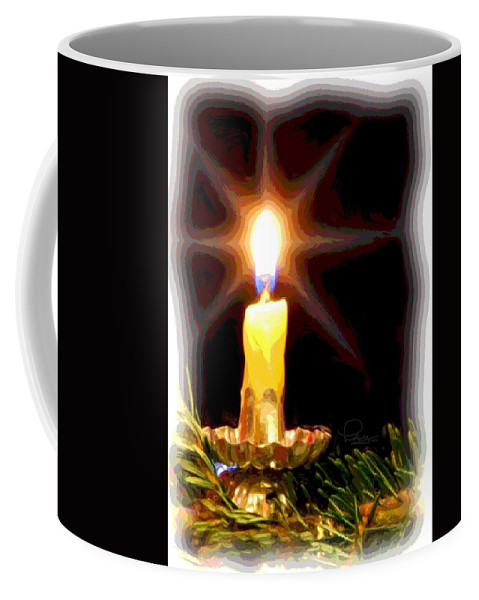 Christmas Coffee Mug featuring the photograph Weihnachtskerze - Christmas Candle by Ludwig Keck