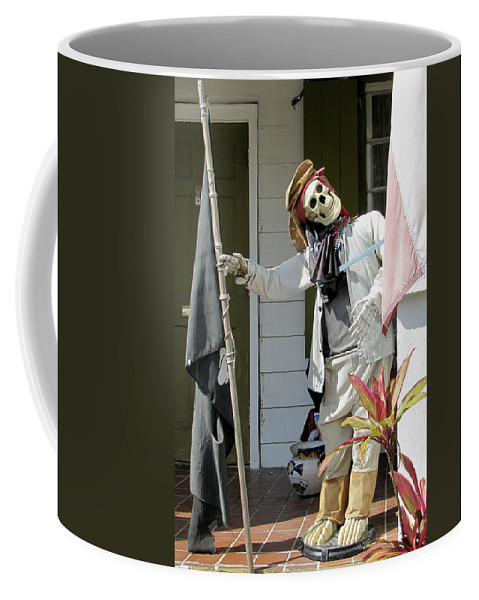 Statue Coffee Mug featuring the photograph Welcome To Key West Neighbor by Bob Slitzan