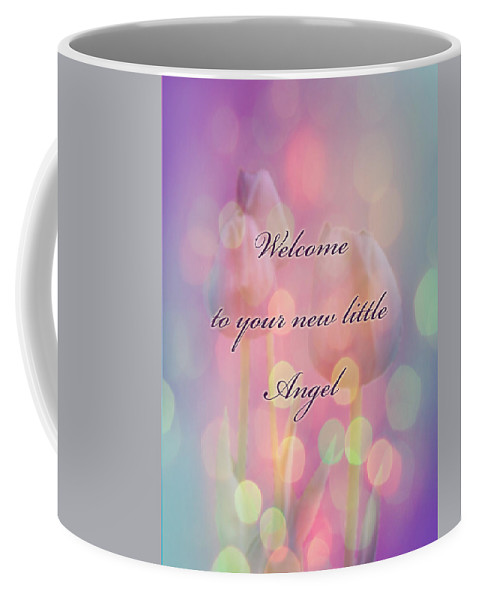 Baby Coffee Mug featuring the photograph Welcome New Baby Greeting Card - Tulips by Mother Nature