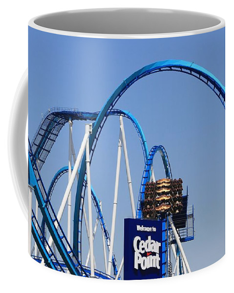 Cedar Point Roller Coasters Coffee Mug featuring the photograph Welcome To Cedar Point by Dan Sproul