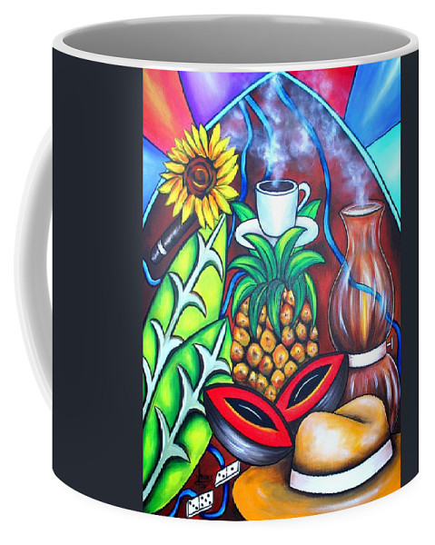 Cuban Paintings Coffee Mug featuring the painting Welcome To Here And Now by Annie Maxwell