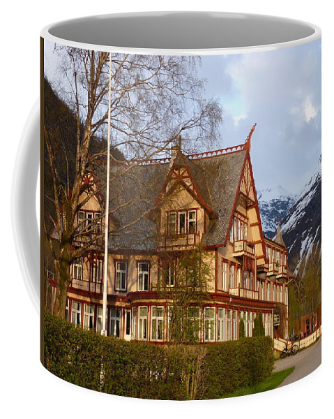 Coffee Mug featuring the photograph Welcome To Hotel Union Oye by Katerina Naumenko