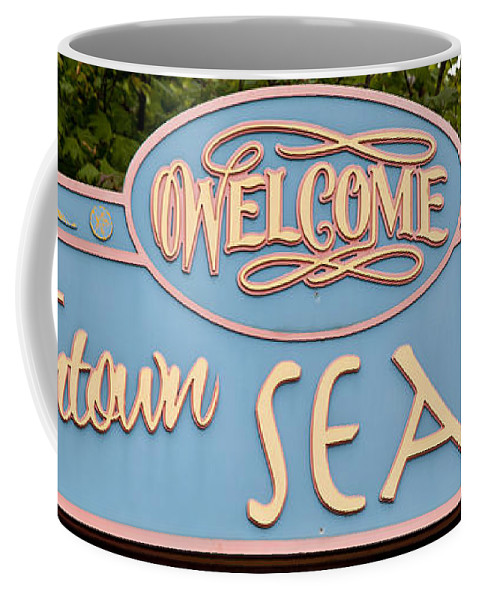 Oregon Coast Photographs Coffee Mug featuring the photograph Welcome To Seaside by David Millenheft