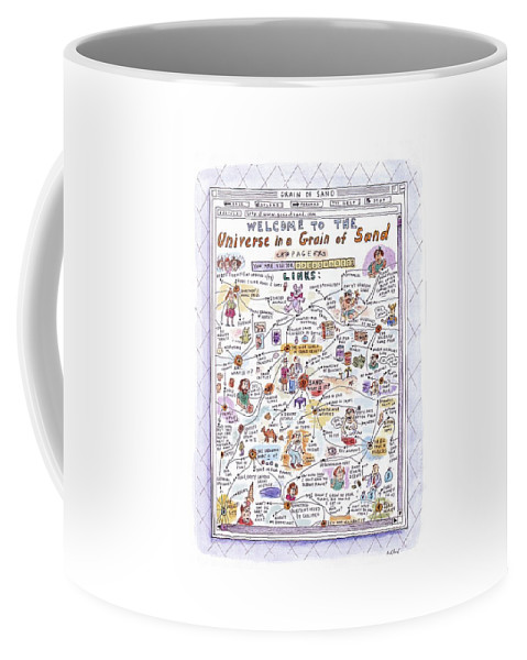 Sand Coffee Mug featuring the drawing 'welcome To The Universe In A Grain Of Sand' by Roz Chast