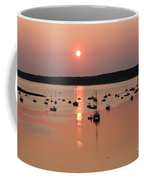 Cape Cod Coffee Mug featuring the photograph Wellfleet Harbor Sunset by Jayne Carney
