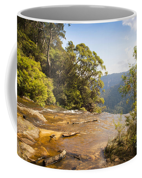 Australia Coffee Mug featuring the photograph Wentworth Falls by Tim Hester