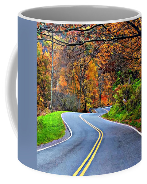 West Virginia Coffee Mug featuring the photograph West Virginia Curves 2 by Steve Harrington