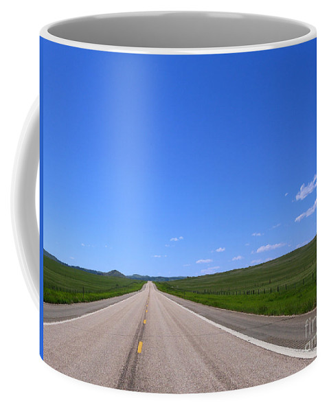 West Coffee Mug featuring the photograph Western Road by Olivier Le Queinec