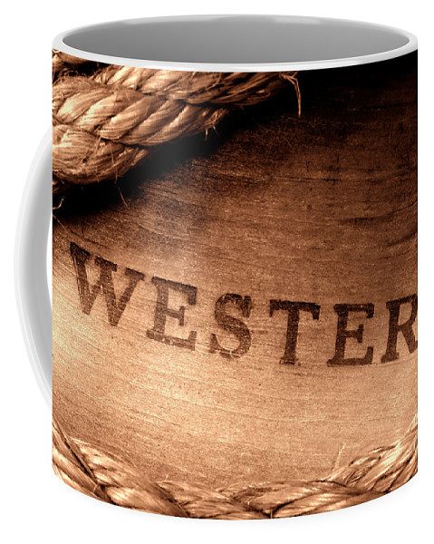 Western Coffee Mug featuring the photograph Western Stamp Branding by Olivier Le Queinec