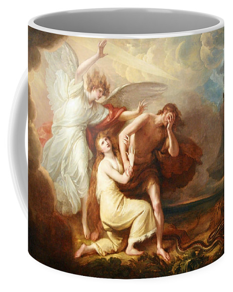 The Expulsion Of Adam And Eve From Paradise Coffee Mug featuring the photograph West's The Expulsion Of Adam And Eve From Paradise by Cora Wandel