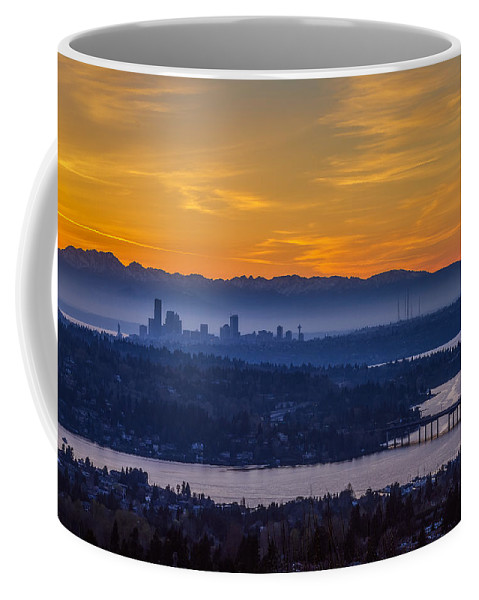 Seattle Coffee Mug featuring the photograph Gateway To Seattle by Ken Stanback