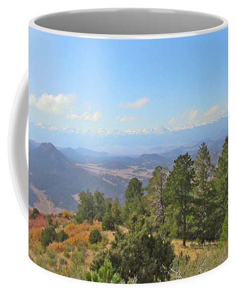 Valley Coffee Mug featuring the digital art Wet Mountain Valley And Beyond by Joe Schanzer