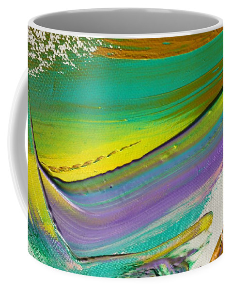 Paint Coffee Mug featuring the painting Wet Paint 6 by Jacqueline Athmann