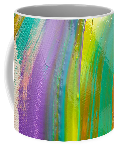 Paint Coffee Mug featuring the painting Wet Paint 8 by Jacqueline Athmann
