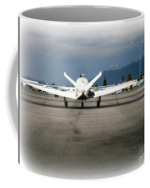 Aviation Coffee Mug featuring the photograph What fly girl is dreaming about by De La Rosa Concert Photography