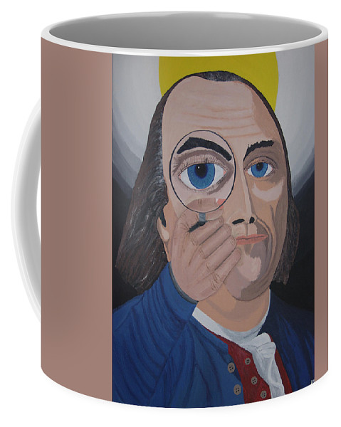 Historical Coffee Mug featuring the painting What Have You Done by Dean Stephens