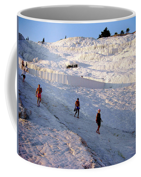 Pamukkale Coffee Mug featuring the photograph What Is Wrong In This Picture by Zafer Gurel