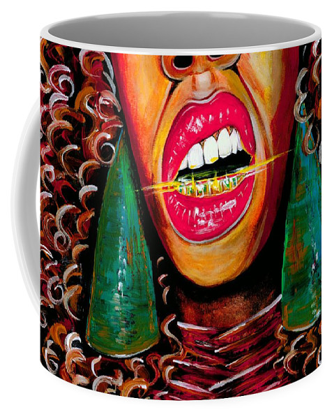 Gold Coffee Mug featuring the photograph What Yo Name Is by Artist RiA