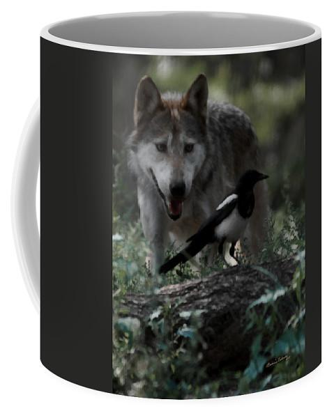 Wolf Coffee Mug featuring the digital art Whats For Dessert by Ernie Echols