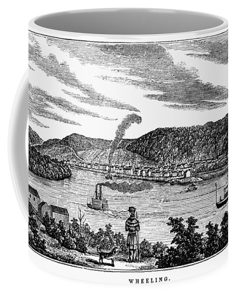 1856 Coffee Mug featuring the painting Wheeling, West Virginia by Granger