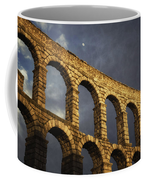 Ancient Coffee Mug featuring the photograph When In Segovia by Joan Carroll
