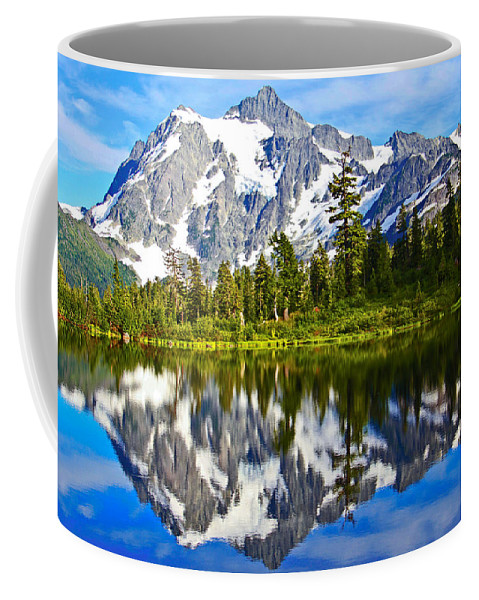 Lake Coffee Mug featuring the photograph Where Is Up And Where Is Down by Eti Reid