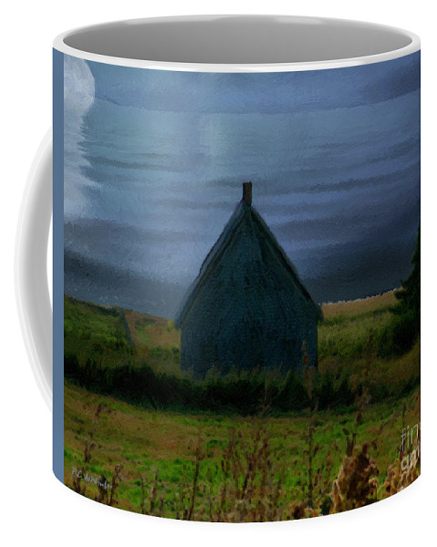 Moon Coffee Mug featuring the painting Where The Moon Meets The Water by RC DeWinter