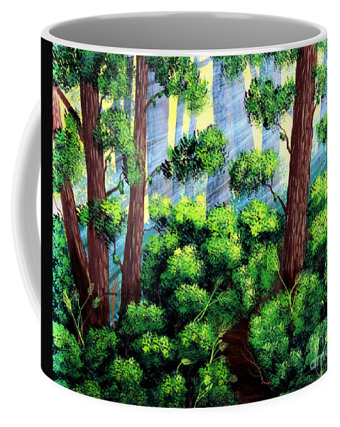 Barbara Griffin Coffee Mug featuring the painting Where The Path Leads by Barbara Griffin