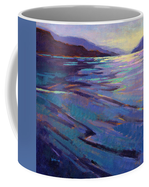 Water Coffee Mug featuring the painting Where The Whales Play 3 by Konnie Kim