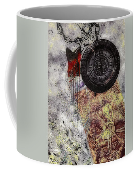 Nightmare Coffee Mug featuring the painting While You Were Sleeping by RC DeWinter