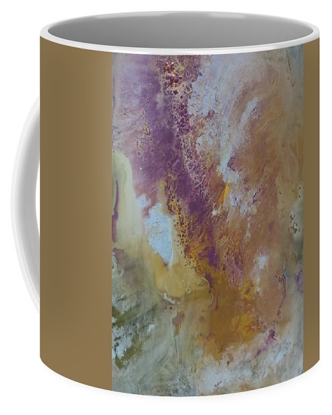 Abstract Coffee Mug featuring the painting Whirlwind by Soraya Silvestri