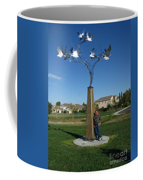 Whirlybird Coffee Mug featuring the photograph Whirlybird by Peter Piatt