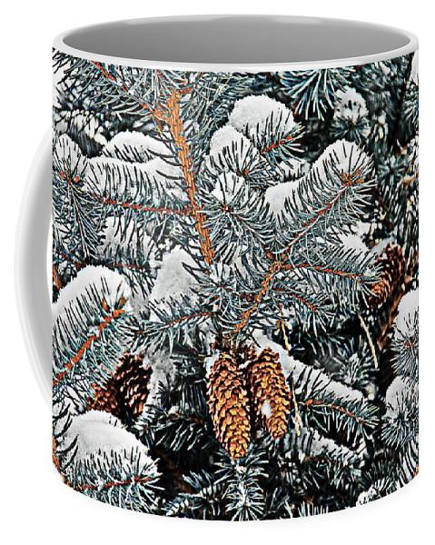 Colorado Coffee Mug featuring the photograph White Christmas by Bob Hislop