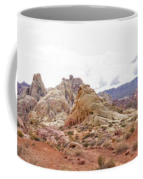 White Domes Trail Coffee Mug featuring the photograph White Domes Panorama by Debby Richards