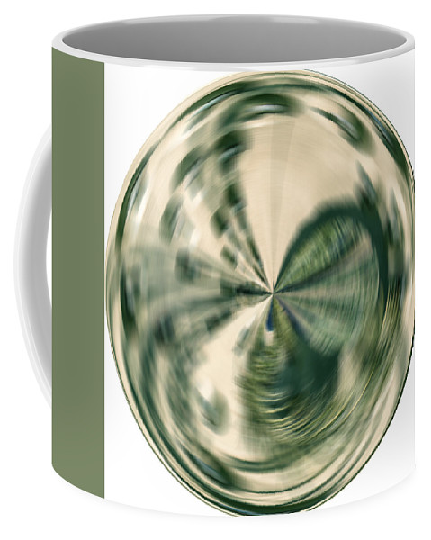 Sphere Coffee Mug featuring the digital art White Gold Ball by Georgianne Giese
