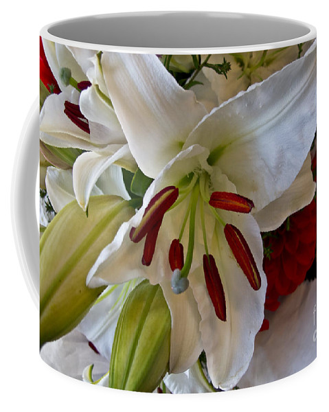 Flower Coffee Mug featuring the photograph White Lilly by Arlene Carmel