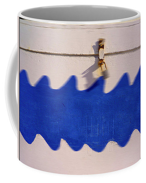 Waves Coffee Mug featuring the painting White Magic by Charles Stuart