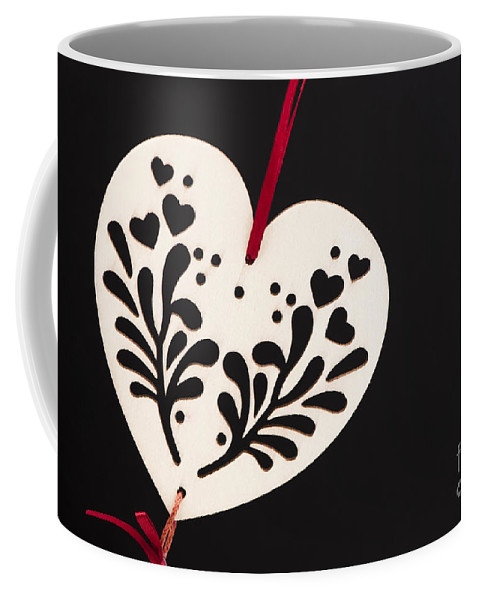 1 Coffee Mug featuring the photograph White On Black by Anne Gilbert