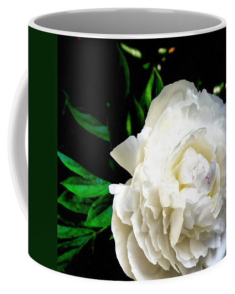 Peony Coffee Mug featuring the photograph White Peony by Michelle Calkins