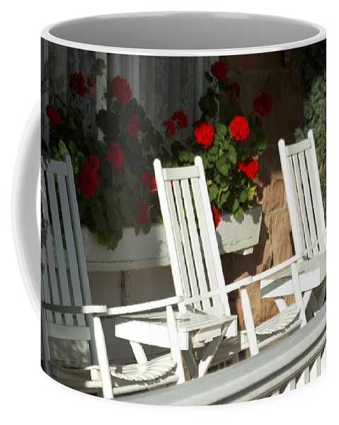 White Coffee Mug featuring the photograph White Rockers Flower 21160 by Jerry Sodorff
