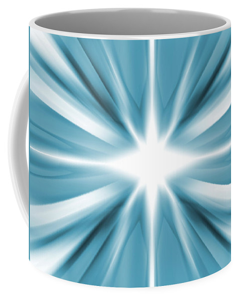 Background Coffee Mug featuring the digital art White Star by Steve Ball