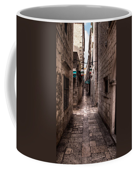 Dubrovnik Coffee Mug featuring the photograph White Streets Of Dubrovnik No5 by Weston Westmoreland