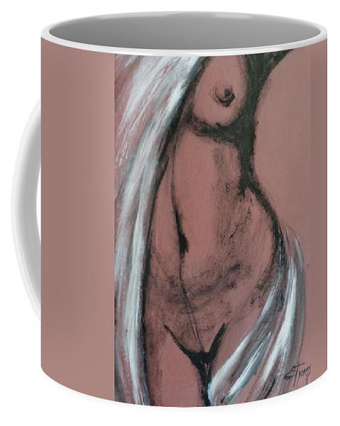 Original Coffee Mug featuring the painting White Towel by Carmen Tyrrell