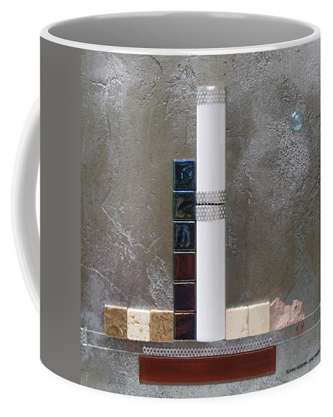 Assemblage Coffee Mug featuring the relief White Tower by Elaine Booth-Kallweit