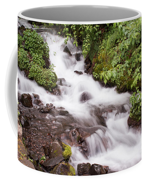 Waterfall Coffee Mug featuring the photograph White Water by Suzanne Luft