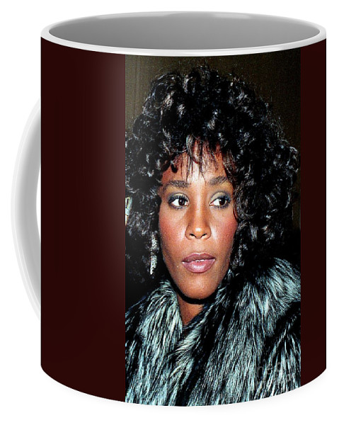 Singer Coffee Mug featuring the photograph Whitney Houston 1989 by Ed Weidman
