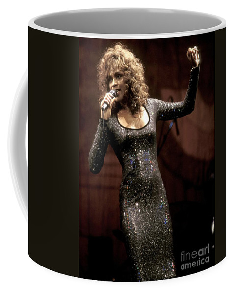 Ballads Coffee Mug featuring the photograph Whitney Houston by Concert Photos