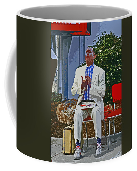 Forest Gump Coffee Mug featuring the digital art Who Is Ur Bubba by Joseph Coulombe