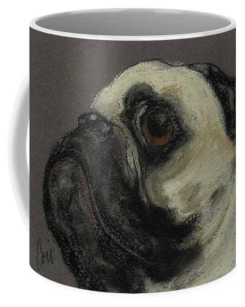 Pastel Coffee Mug featuring the drawing Who Me by Cori Solomon