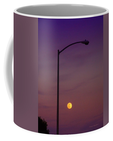 Moon Coffee Mug featuring the photograph Who Needs A Lamp Post by Donna Blackhall